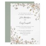 Lovely Tiny Green leaves Whimsical wedding Invitation