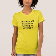 loving retirement teeshirt