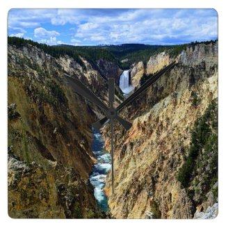 Lower Yellowstone Falls Wall Clocks