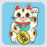 Lucky cat Maneki Neko stickers