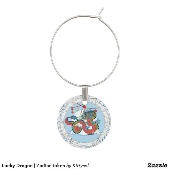 Lucky Dragon | Zodiac token Wine Charm