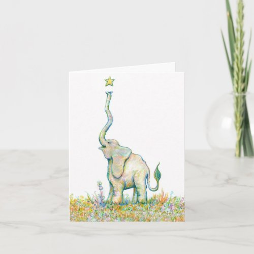 Lucky Elephant - Note Card - 4