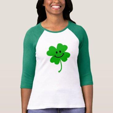 Lucky four leaf clover smiley face T-Shirt