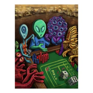 Lucky Lou In Las Vegas- Alien Craps Poster