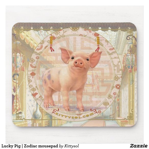 Lucky Pig | Zodiac mousepad