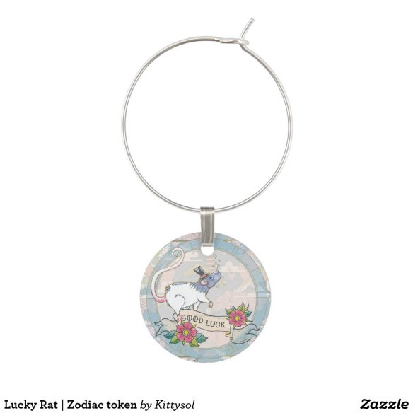 Lucky Rat | Zodiac token Wine Charm