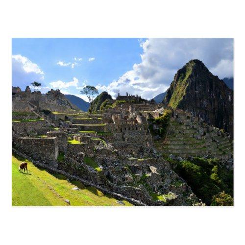Machu Picchu, Peru, Afternoon Postcard