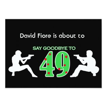 Mafia Style 50th Birthday Celebration Invitation