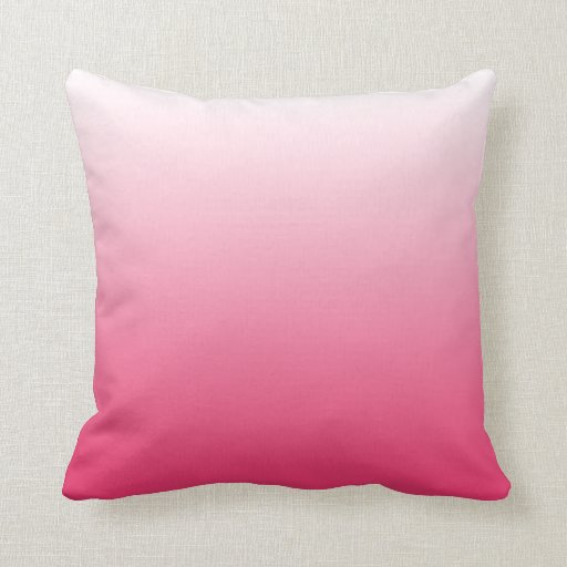 Magenta Pink Gradient Ombre Throw Pillow  Zazzle