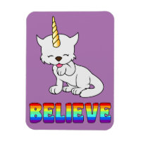 Magic Unicorn Cat = Kittycorn Magnet