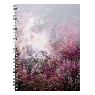 Magical Purple Pixie Dust Nebula Wilderness Notebooks
