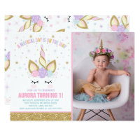 Magical Unicorn Birthday Invitation Unicorn Party