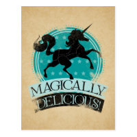 Magically Delicious (Unicorn Meat) Funny Postcard