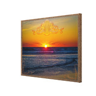 Magnificent Sunrise Over The Atlantic Ocean II Stretched Canvas Print