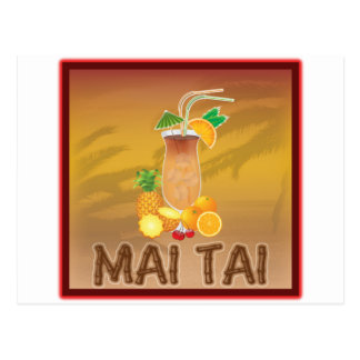 Mai Tai Cocktail Postcard