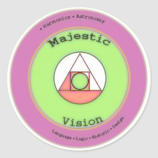 Majestic Vision Round Sticker