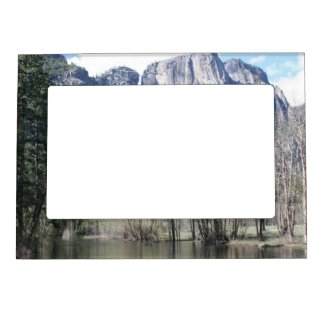 Majestic Waterfall in Yosemite Park Magnetic Picture Frame