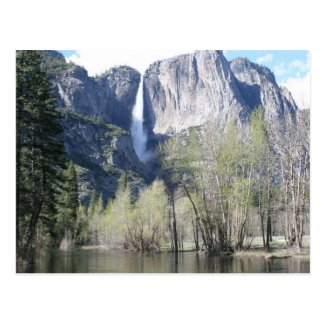 Majestic Waterfall in Yosemite Park Postcards
