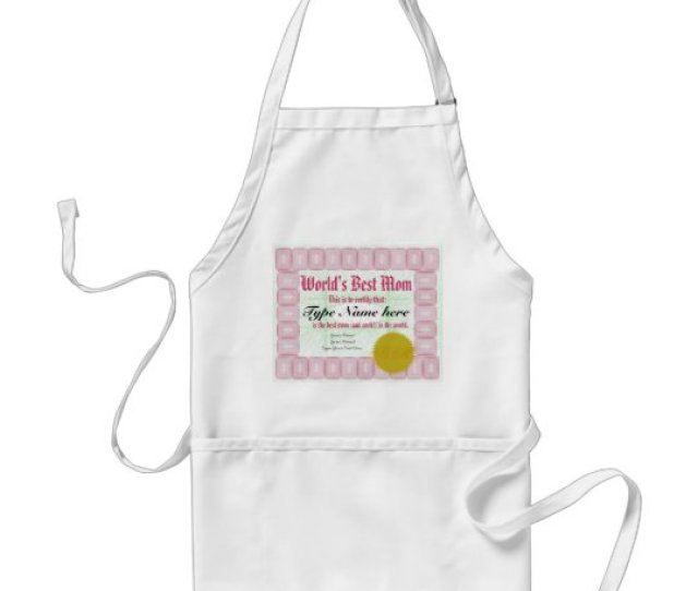 Make A Worlds Best Mom Award Certificate Apron