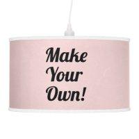Make Your Own Custom Printing Hanging Pendant Lamp   Zazzle