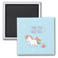 Make Your Own Magic Unicorn Poop Magnet