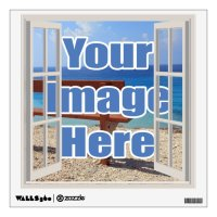 Make your own open window personalized wall sticker | Zazzle