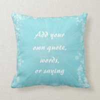 Make Your Own Quote Pillow