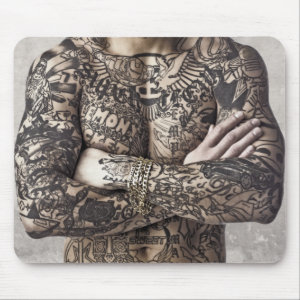 Male Body Tattoo Photograph Mouse Pad