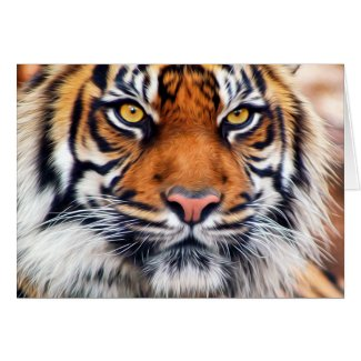 Male Siberian Tiger Greeting Card