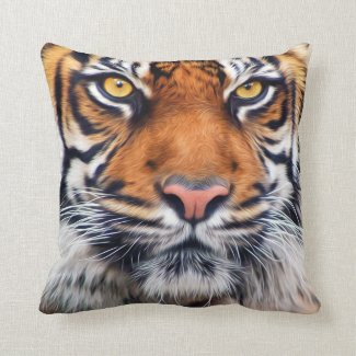 Male Siberian Tiger Pillows