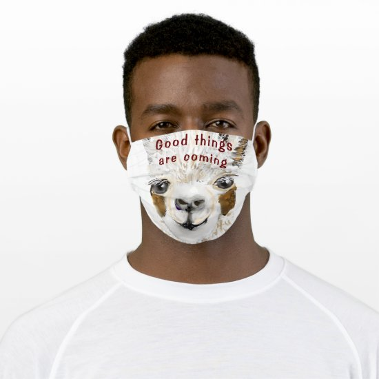 Mama Llama Things Going to Change Cloth Face Mask