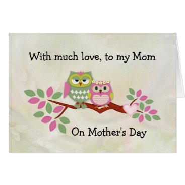 Mama Owl Mother's Day Card