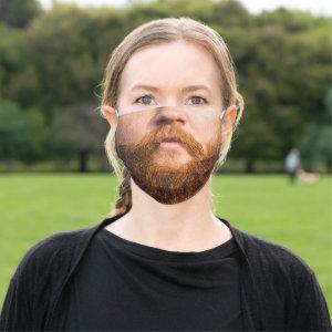 Man Beard Cloth Face Mask