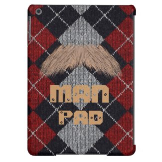 MAN PAD Plaid Moustache iPad Air barely there Case
