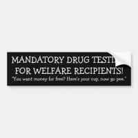 Mandatory Drug Testing Bumper Sticker | Zazzle