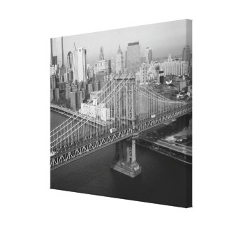 Manhattan Bridge Black and White Photograph Canvas Print