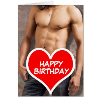 Man's Bare Chest Happy Birthday Greeting Cards