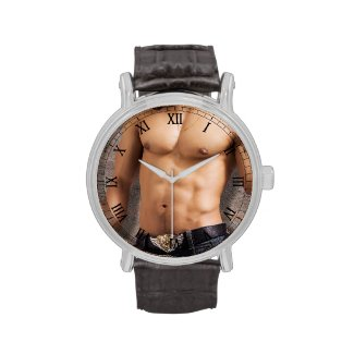 Man's Bare Chest Photograph Wrist Watches