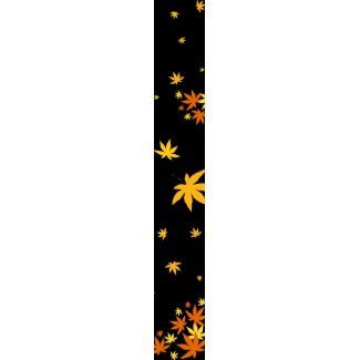 Maple leaves necktie