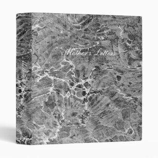 Marbled Black & White Vinyl Binders