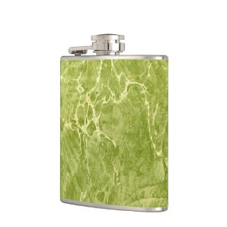 Marbled Green Hip Flasks