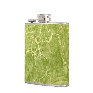 Marbled Green Hip Flasks