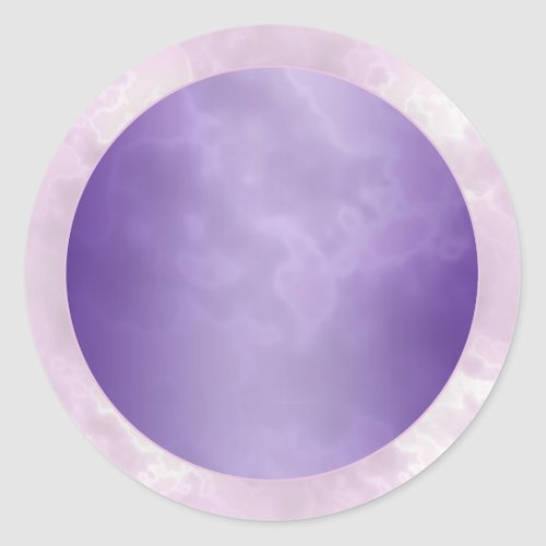 Marbled Purple Round Label Classic Round Sticker