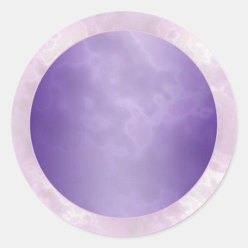 Marbled Purple Round Label Classic Round Sticker