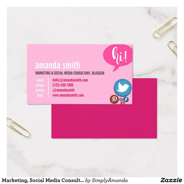 Marketing, Social Media Consulting and Blogger Business Card
