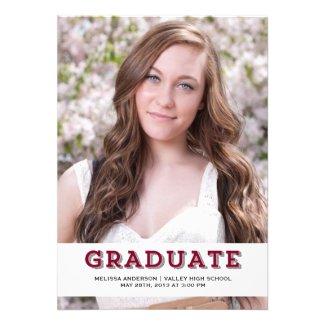 Maroon Graduate Senior Portrait