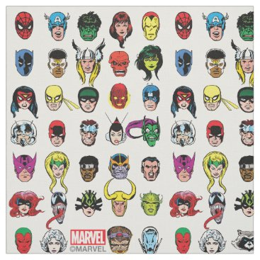 Marvel Comic Characters Pattern Fabric