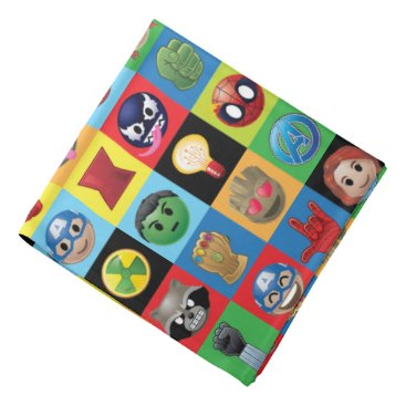 Marvel Emoji Characters Grid Pattern Bandana