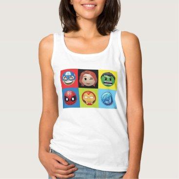 Marvel Emoji Characters Grid Pattern Tank Top