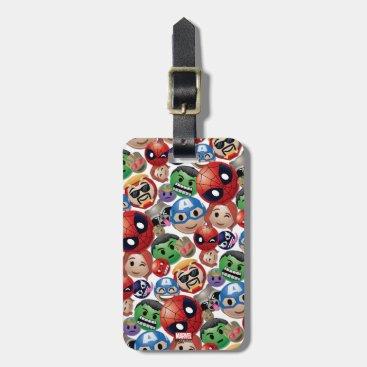Marvel Emoji Characters Toss Pattern Bag Tag